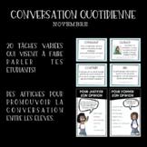 Conversation quotidienne - NOVEMBRE