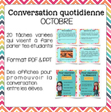 Conversation quotidienne - octobre