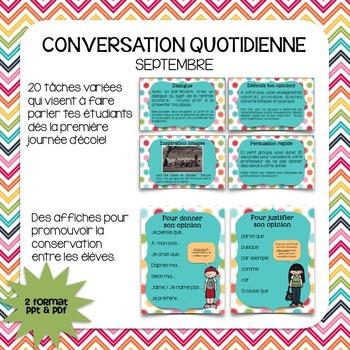 Conversation quotidienne - septembre