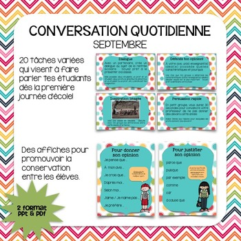 Conversation quotidienne - septembre