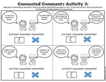 Conversation and Social Skills: Comments and Follow-up Questions