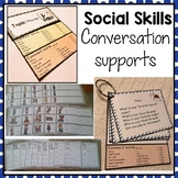 Conversation social skills supports. Autism, speech.