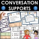 Conversation social skills supports. Autism, speech.