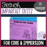 French imparfait speaking project and grading scale / un dialogue à l'imparfait