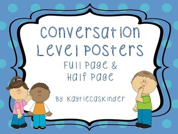 Conversation/Voice Level Posters