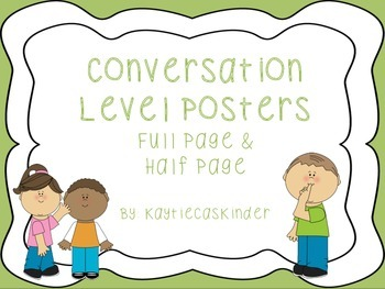 Conversation/Voice Level Posters:green