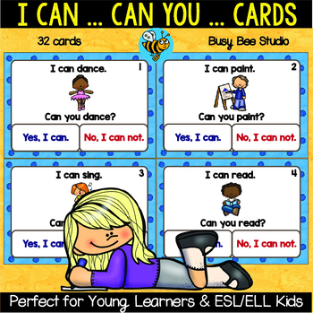 ESL Grammar Task Cards: I can... Can you?