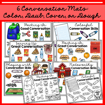 Map, Mash, & Mark Conversation Mats: Back to School
