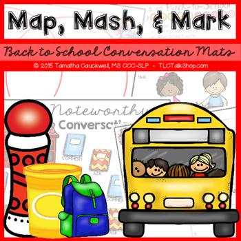Map, Mash, & Mark Conversation Mats: Back to School