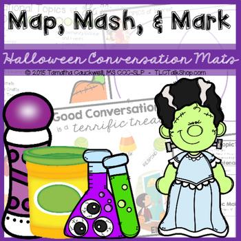 Map, Mash, & Mark Conversation Mats: Halloween