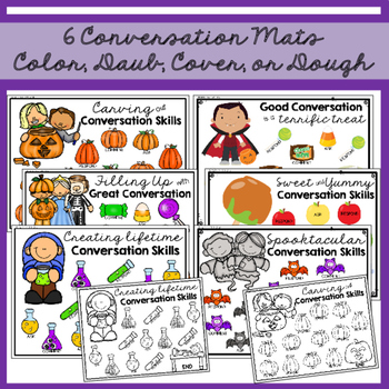 Halloween Conversation Exchange: Map, Mash, & Mark