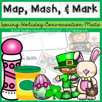 Map, Mash, & Mark Conversation Mats: Spring Holidays