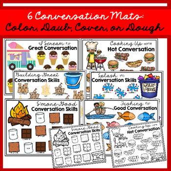 Map, Mash, & Mark Conversation Mats: Summer