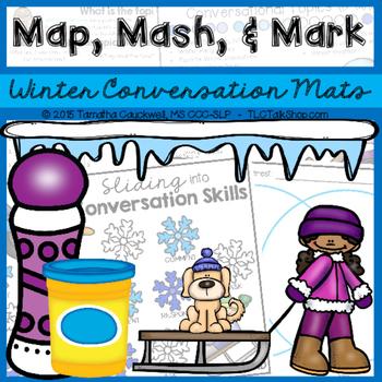 Map, Mash, & Mark Conversation Mats: Winter