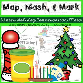 Map, Mash, & Mark Conversation Mats: Winter Holidays