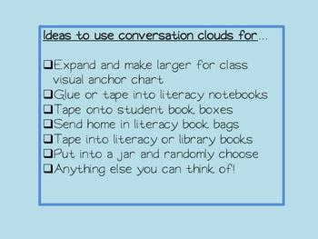 Conversational Moves Partner Reading Book Talk
