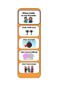 Conversational Rules Bookmark/Visual