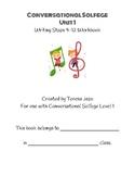Conversational Solfege Unit 1 Writing Workbook