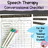 Conversational Skills Checklists Facial Expression Topic Maintenance Turn Taking
