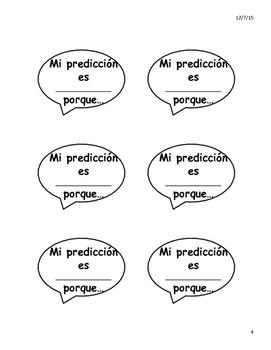 Conversational Starter Speech Bubbles in Spanish