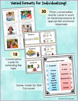 Conversation Skills Activities and Games for Topics and Turn Taking