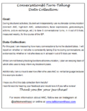 Conversational Turn-Taking - Goal and Data Collection Sheet
