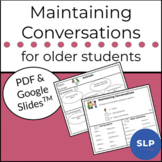 Conversational Turn-Taking and Maintaining for Older Students