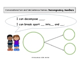 Conversational turn and talk sentence frame : decomposing numbers
