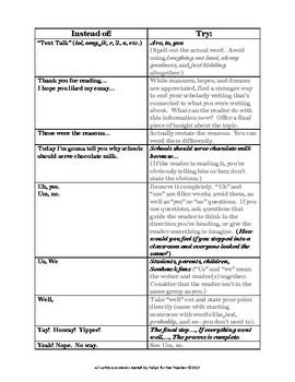 Conversational vs. Scholarly Voice Practice