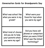 Conversations Cards for Grandparents Day
