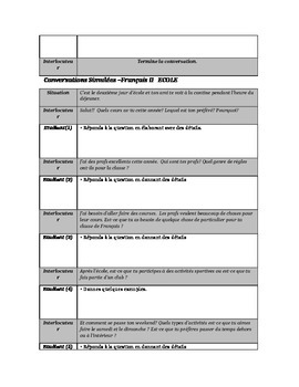 Conversations Simulées Full French 2 Packet