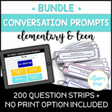 Conversations Starters BUNDLE Speech Therapy Distance Learning