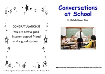 Conversations at School Social Story Book for Multiple Social Situations