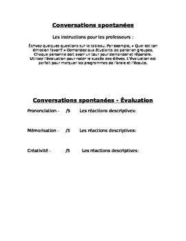 Conversations spontanées - Évaluation