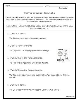 Conversazione Simulata- La moda