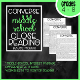 Converse Shoes Close Reading for Middle School (4-8)