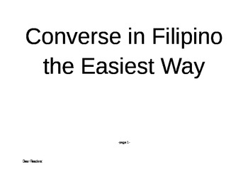 Converse in Filipino the Easiest Way - pages 1 - 5