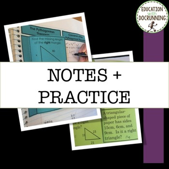 Converse of Pythagorean Theorem: Notes and Practice for Interactive Notebooks