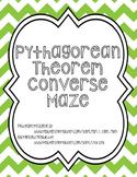 Converse of the Pythagorean Theorem Maze