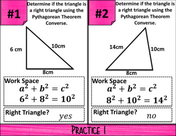 Converse of the Pythagorean Theorem_Digital Notes & Quiz (GOOGLE)