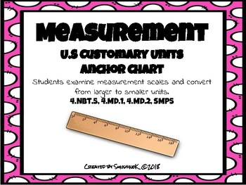 U.S Customary Unit -Conversion Anchor Chart- Mass, Lengths, Capacity, Time