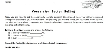 Conversion Factor Baking
