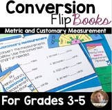 Conversion Flip Books, Notebook Pages, Activities and Task Cards- Grades 3-6