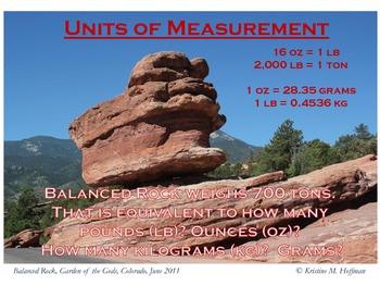 """Conversion Info"" at Balanced Rock (Math Poster)"