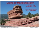 """Conversion Info"" at Balanced Rock (Math Poster)"