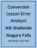 Conversion Lesson Error Analysis Powerpoint (Dan Meyer 3 Act Task) Nik Wallenda