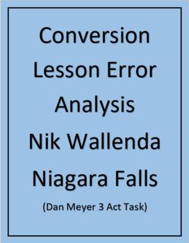 Conversion Lesson Error Analysis Powerpoint (Dan Meyer 3 Act Task) Nik Wallenda