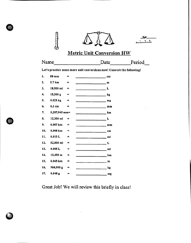 Conversion Practice Worksheet