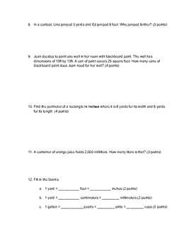 Conversion Quiz
