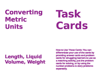Conversion Task Cards (4-5)